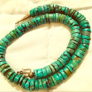 Jewelry - Gorgeous vintage turquoise necklace sterling
